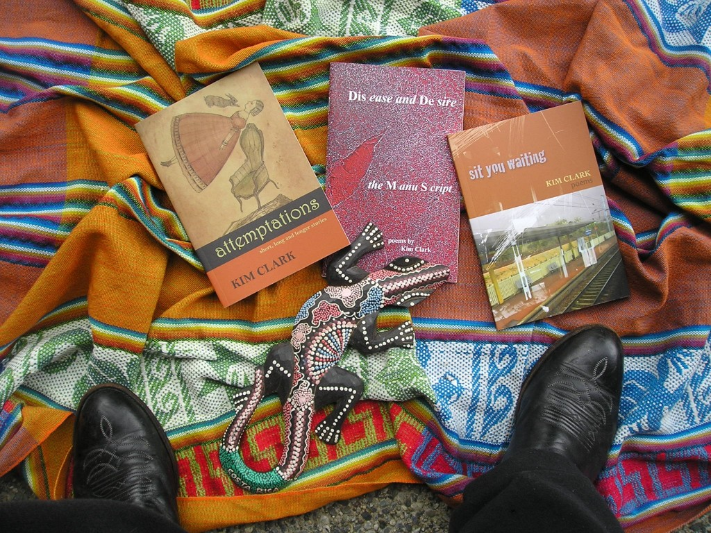 Books by Kim Clark, photo by Darryl Knowles