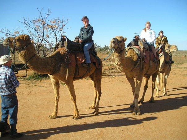Kim on a camel
